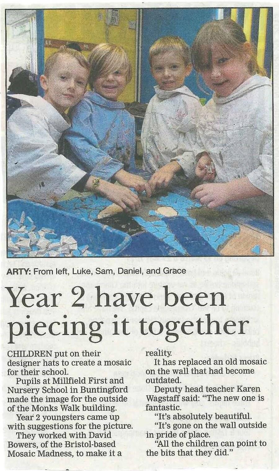 Millfield First Nursery School Local Newspapers