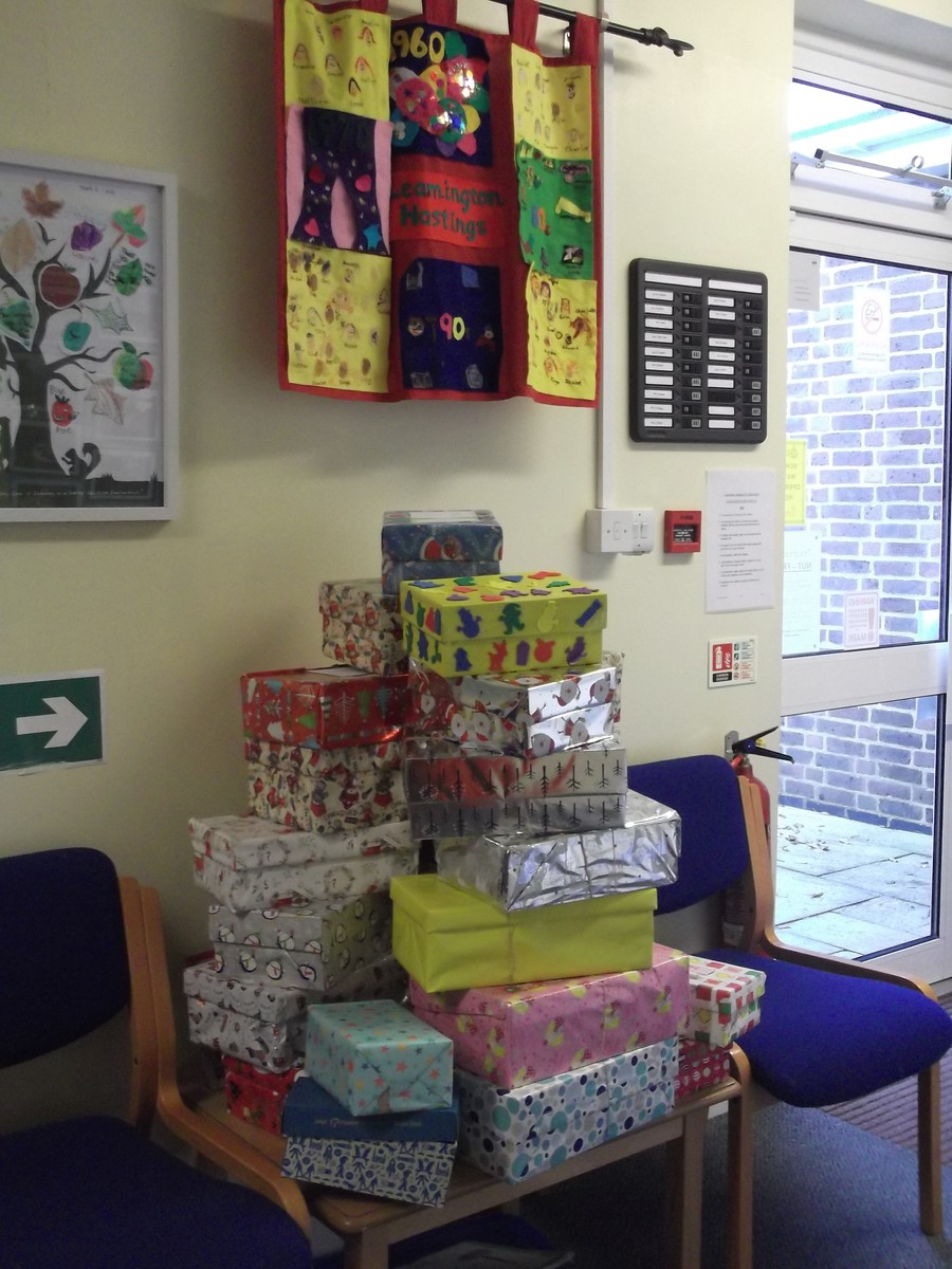 A fantastic amount of presents all ready for Samaritan's Purse to collect!
