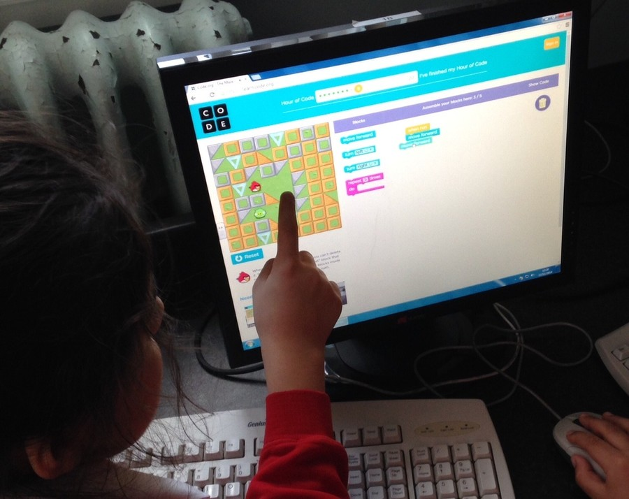 This year, children will be learning to read and write code in computing lessons.