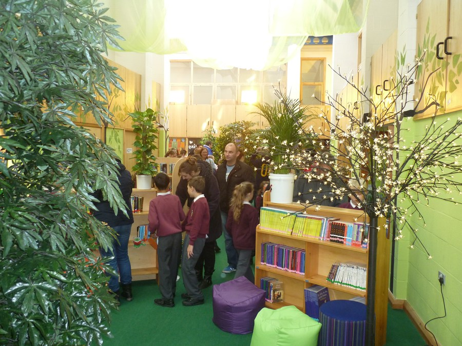 "The open day to our brand new fiction library at the Junior School - ""Forest of Fiction"""