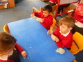 Working with Play doh