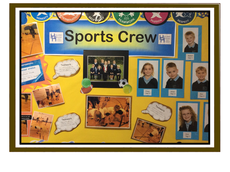Sports Crew Notice Board