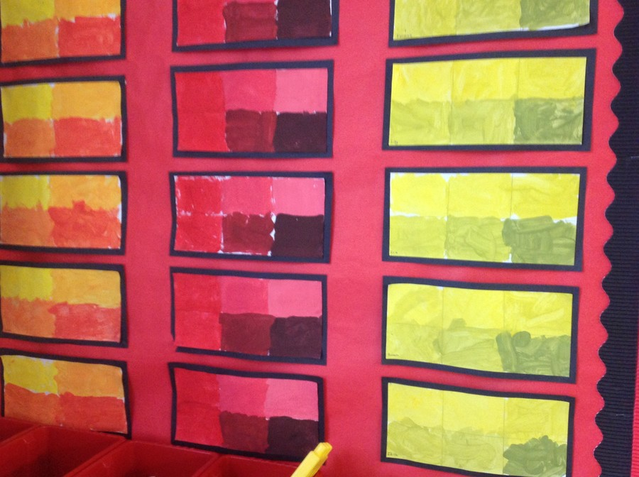 Finding out about shades of colour in Class 1