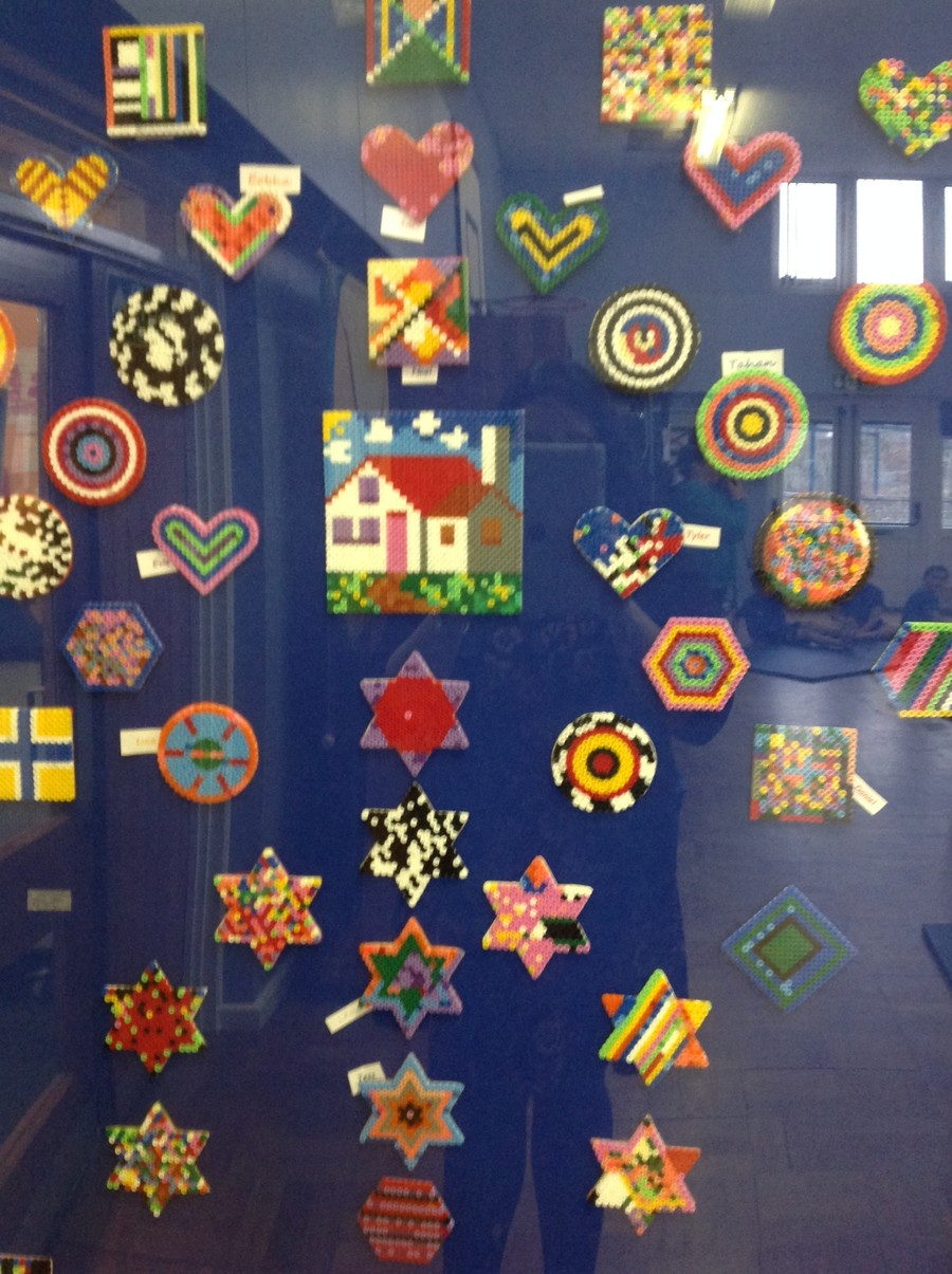 Mrs Hocking helped us to create these beaded patterns in craft club.