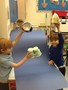 They demonstrate how the model works and which parts shoot into space.