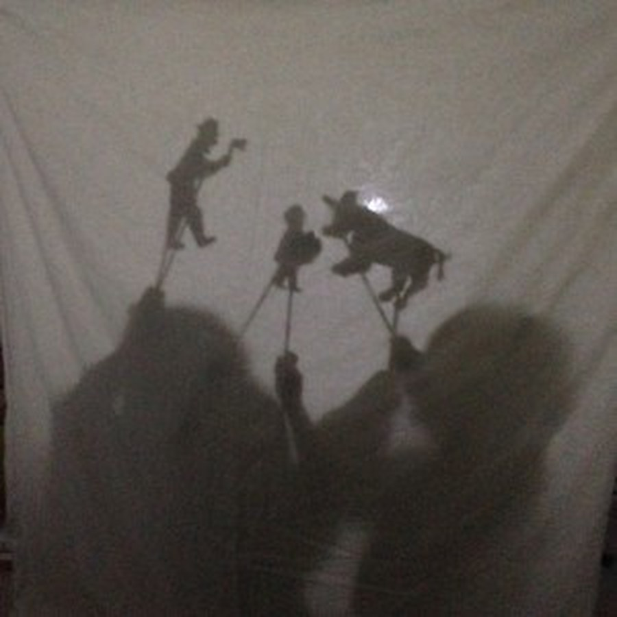 The Lemmon family shadow puppets