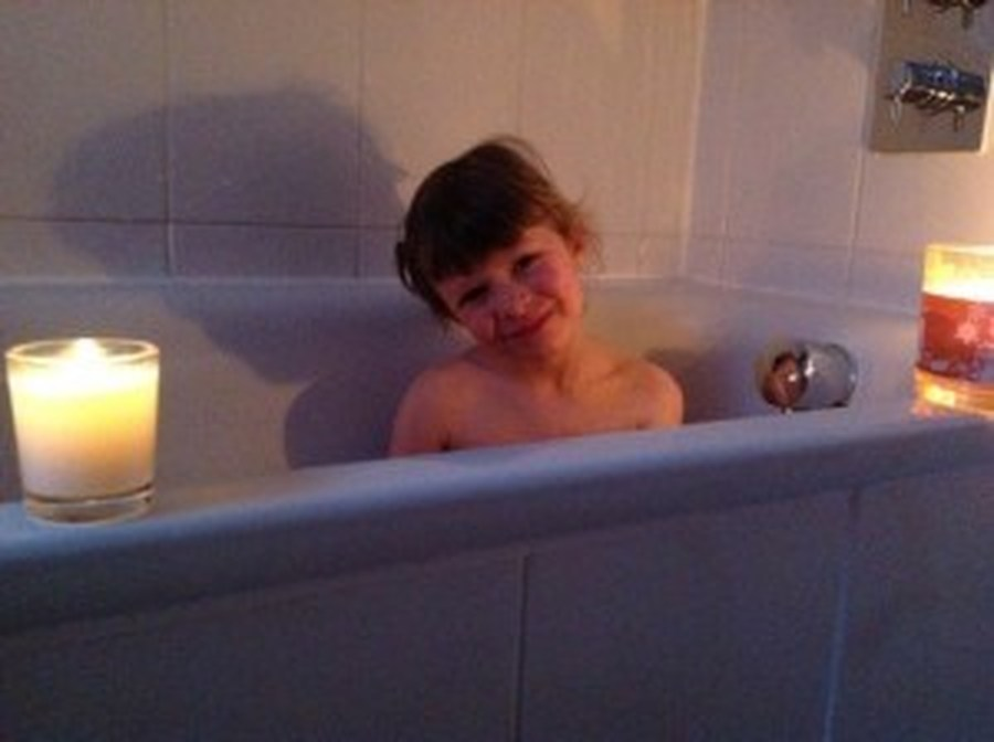 Bath Time with Mills Family