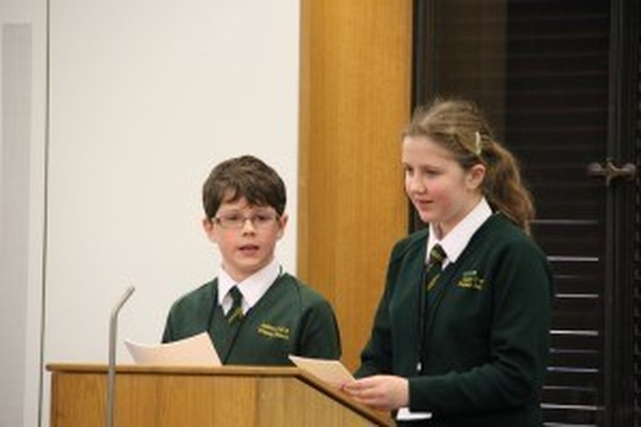 Sam and Maisy speaking at the Houses of Parliament, 17th December 2013