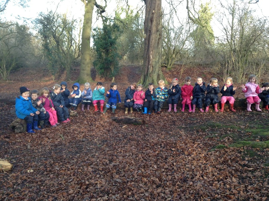 Finally, time for a story on our log seats. We had lots of fun at Forest School!