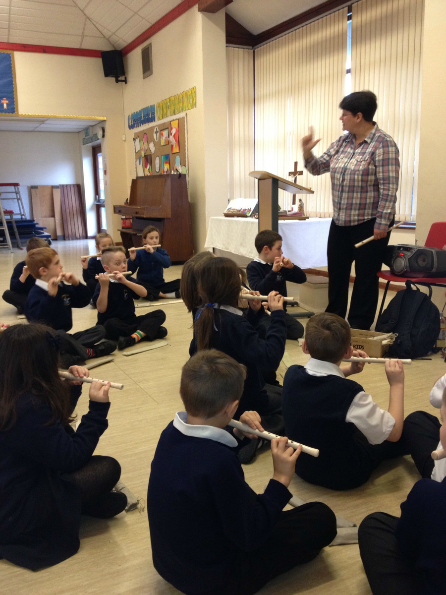 All children in Years 3 and 4 learn Music from a peripatetic Music teacher. They learn many styles of singing and also how to play tuned musical instruments.