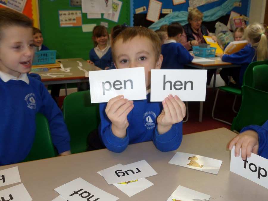We have been reading and finding rhyming words