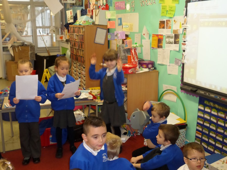 We have been making up our own interesting endings to the story 'Room on the Broom'