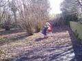 Exploring the woods for habitats.JPG