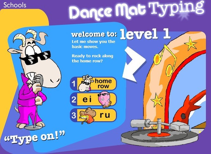 BBC Dance Mat Typing  Typing game      Practise your typing skills