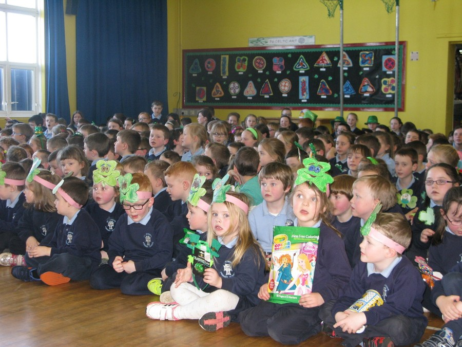 Children enjoying the Green Raffle