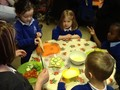 We made cheese and cucumber, cheese and tomato and banana sandwiches!