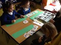 We participated in an activity where we organised these pictures in the other of the story.