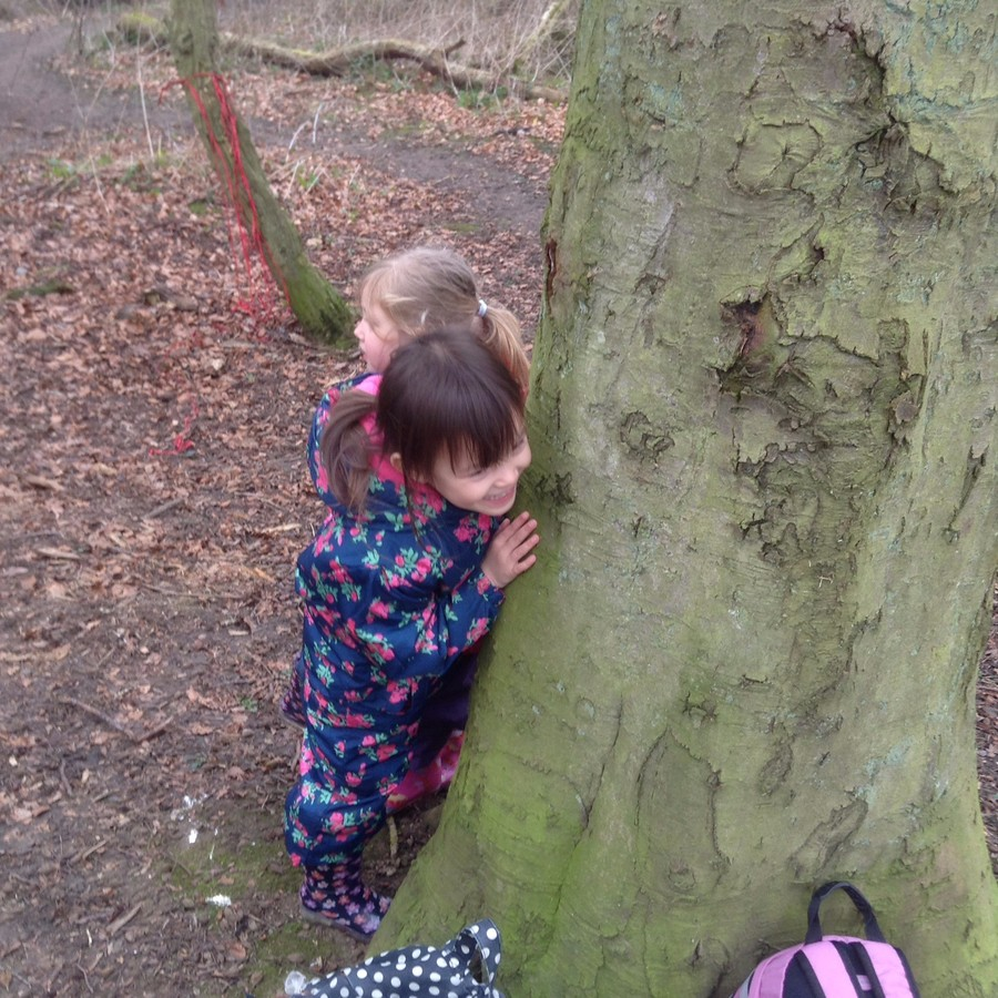 The trouble with playing hide and see with the triplets is - you are never quite sure which one you have spied!!