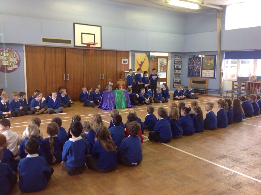 Class Three's whole school assembly about The Mass