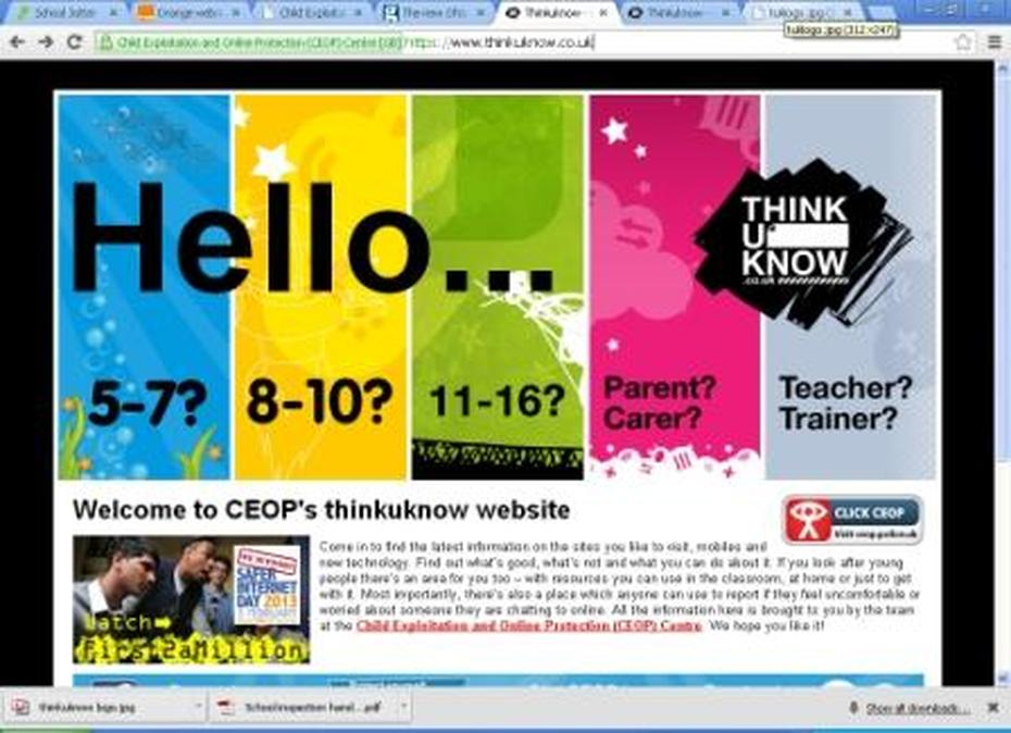 CEOP thinkuknow website