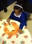 In the story, the tiger was made sandwiches, so we decided to make our own.