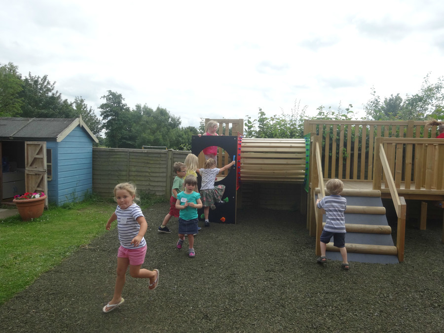 Reception enjoying the new early years equipment