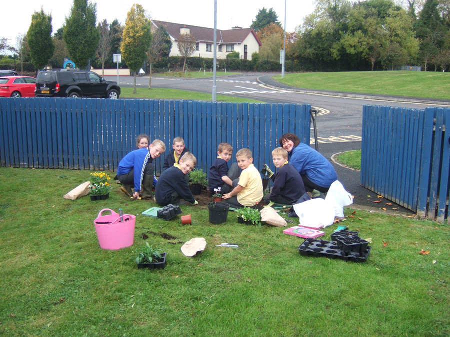 Mrs Docherty and her green fingered friends