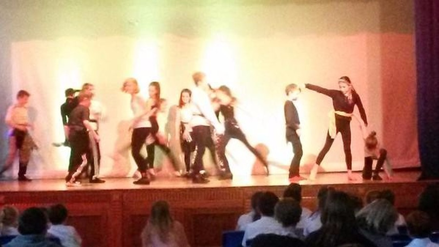 Year 5 taking part in the dance platform event at UVHS.