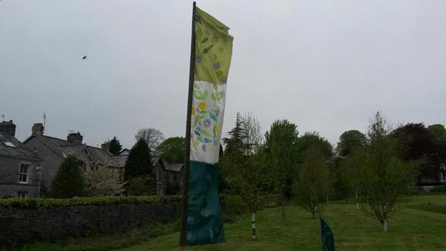One of our wonderful flags, displayed at the entrance to Ford Park for the community flag day.