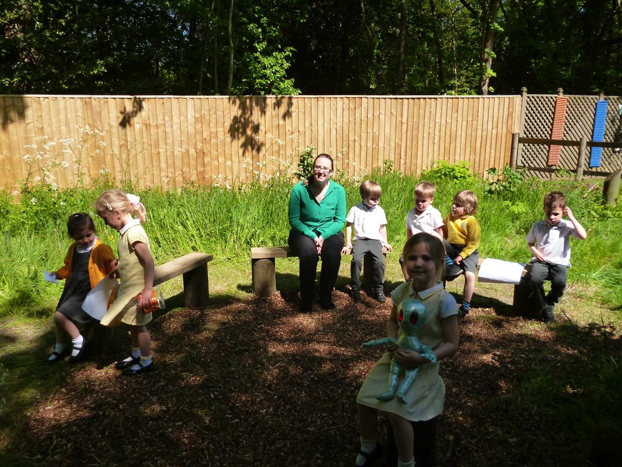 After - Early years enjoying the new seating area