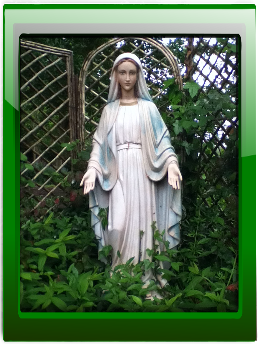 Our prayer Garden is dedicated to Mary