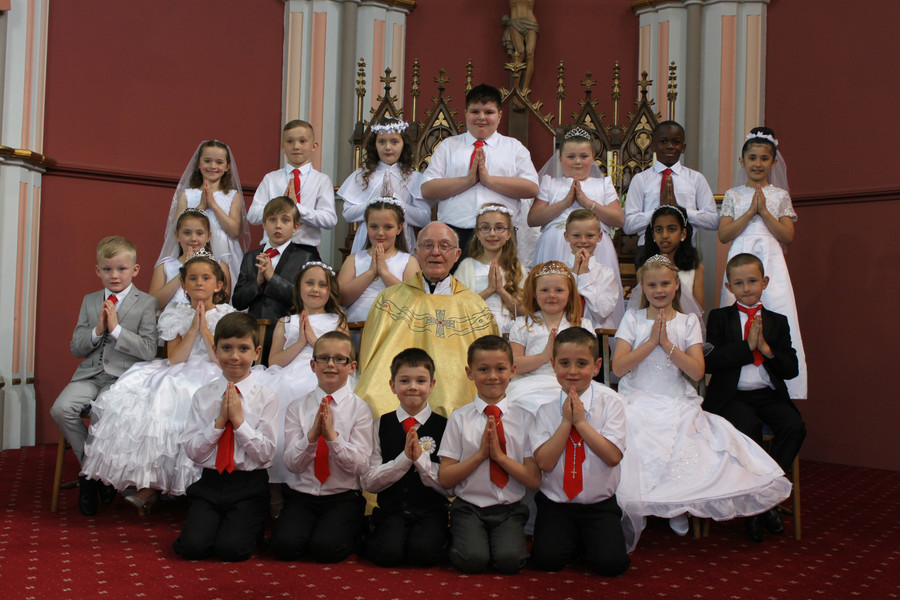 Class Photo 2014 - 2015, Holy Communion at Holy Family Church