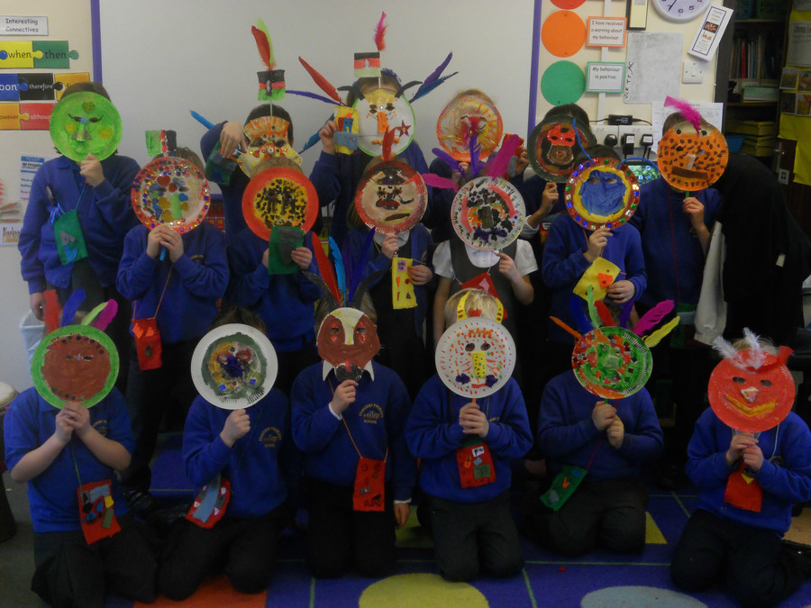 We had an African tribal party to celebrate all we had learnt about Africa