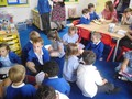 Sharing the books we made with Reception.JPG