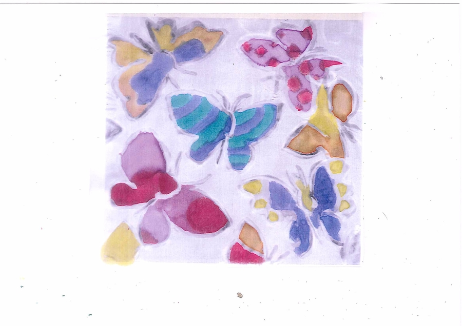 Claire's Butterfly Silk Painting.