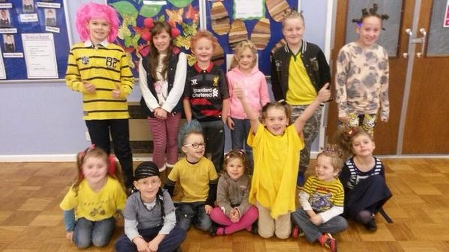 We raised money for BBC Children in Need in November by coming to school with 'mad hair'.  Some of us put in lots of effort with our creative hairstyles!