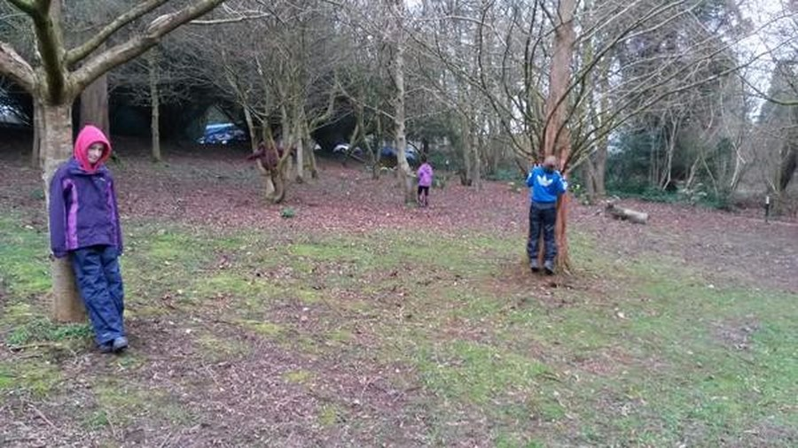While we were at our Forest Schools session, we took some time to quietly meditate and appreciate God's beautiful world.