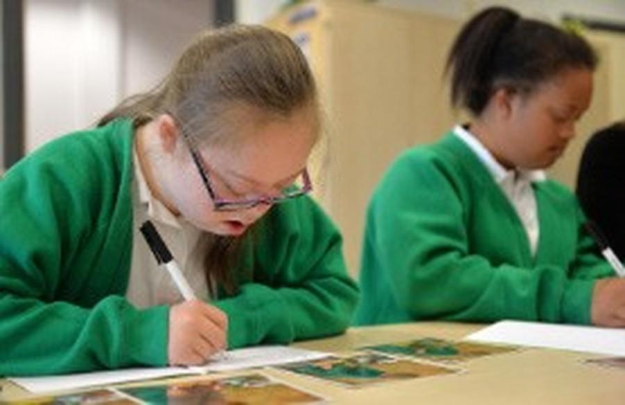 Pupils writing