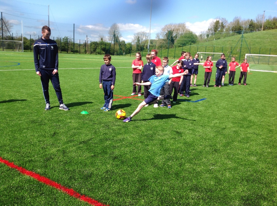 Football Coaching at The Peace Link, Clones
