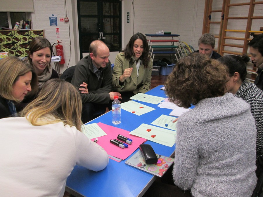 Our parents working hard on their problem solving