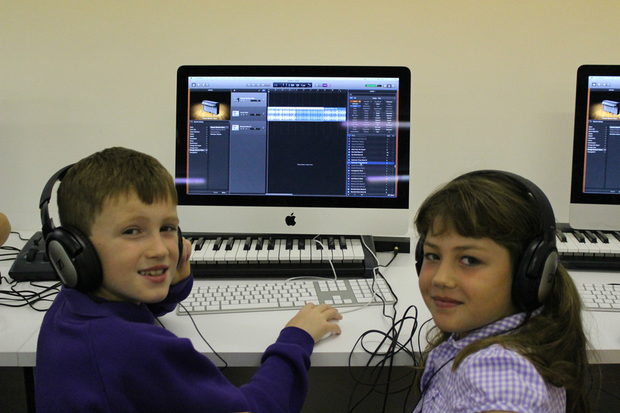 We are enjoying music technology