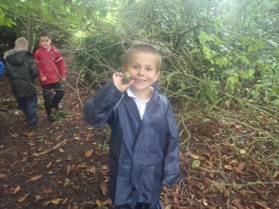Liam and a conker.