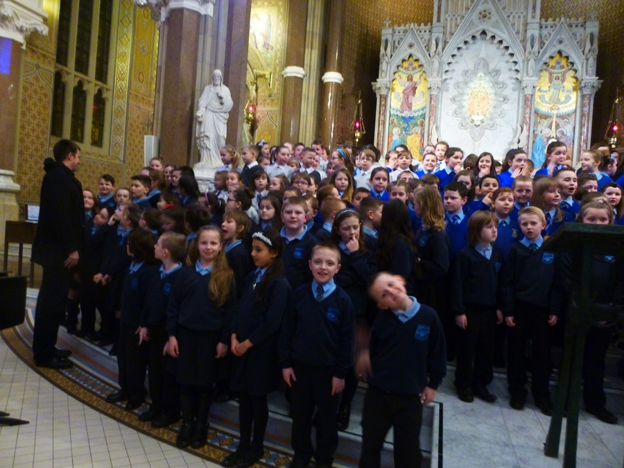 P5 performs at Clonard Monastery