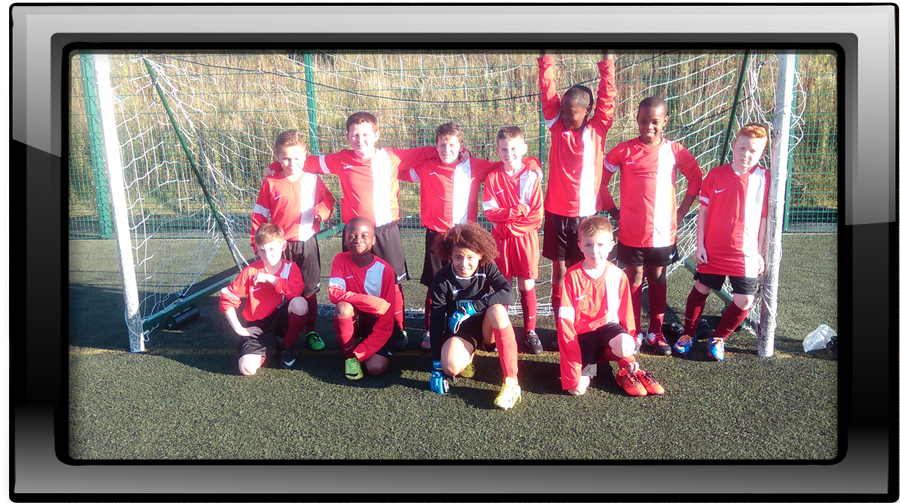 Boys football team first league game finished 0-0. Well done on a clean sheet.