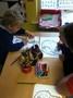 Children enjoying the colouring sheets