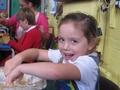 Enjoying making our apple cake.
