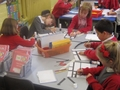 Creating right angles in the style of Mondrian.