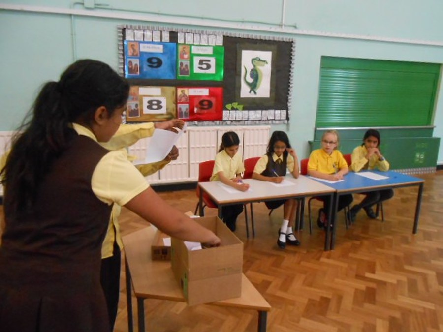 School Councillors opened the ballot box and counted the votes for the new parent governors.