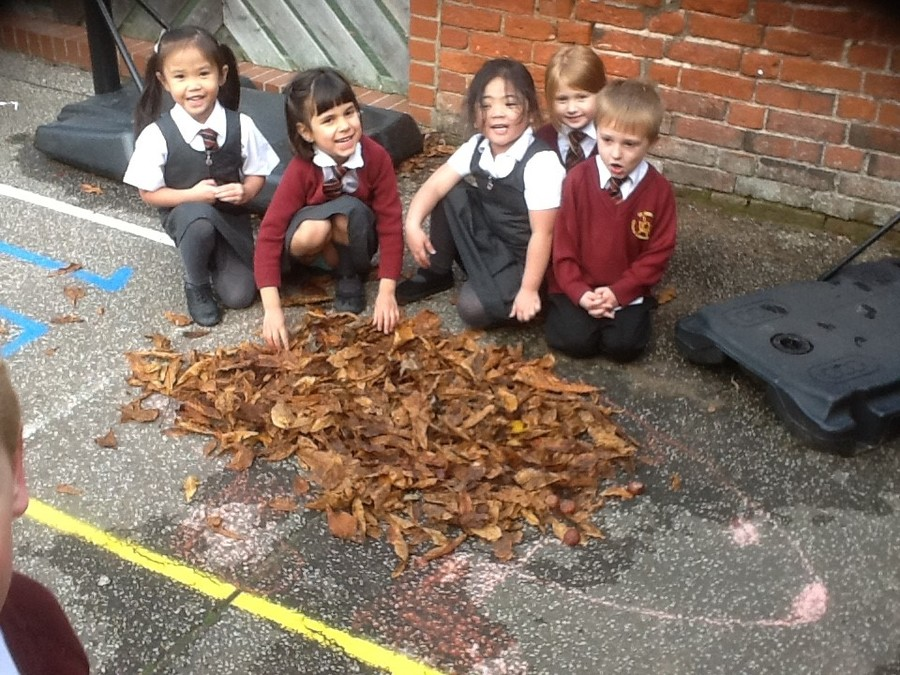 We enjoyed making some Autumn art and made our very own Hedgehog!
