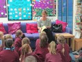 Miss Foley telling an exciting story<br>
